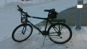 This is what i rode to work. Yes those are studded tires for my bike.