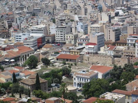 View of Monastiraki. Should be Library of Hadrian