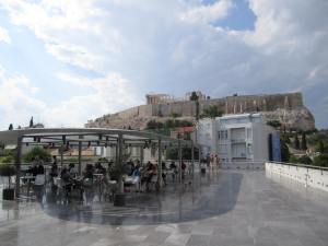 Cafe on top of the Museum with a great view of the Acropolis.