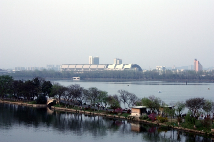 Nanjing Railway Station in the distance.