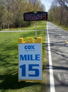 15 mile mark