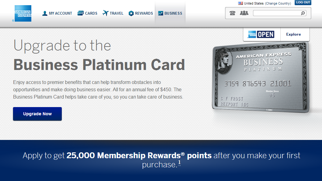 American Express MR 25k Bonus to Upgrade to Business Platinum ...