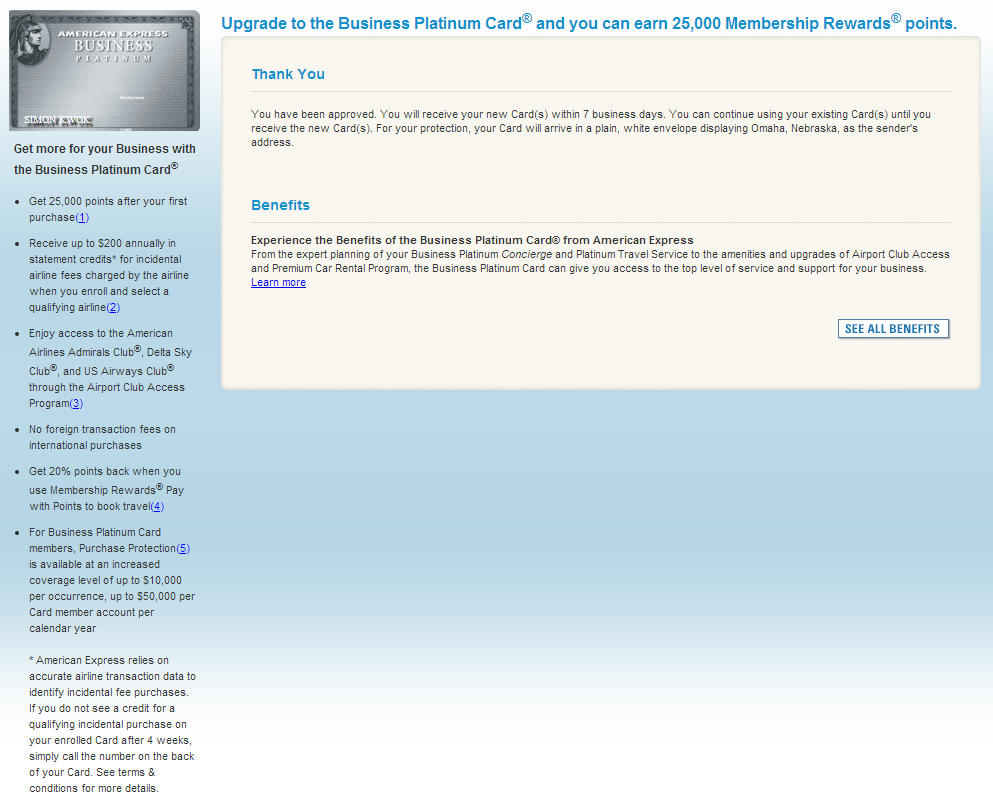 American Express MR 25k Bonus to Upgrade to Business Platinum ...