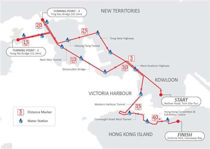 Hong Kong Marathon 2014 Route