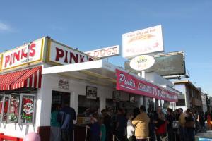 Pinks Hot Dog